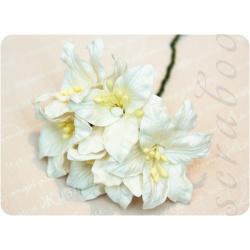 Белая лилия, 55 мм, 5шт
