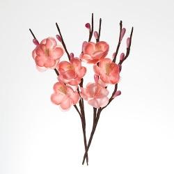 Цветы вишни из ткани, розовый, 2шт