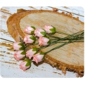 Бутоны роз персикового цвета, 5 шт
