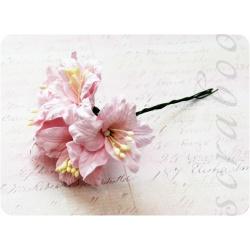Светло-розовая лилия, 55 мм, 5шт