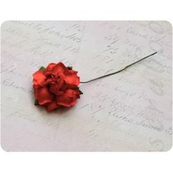 Темно-оранжевая роза, 35 мм, 1шт