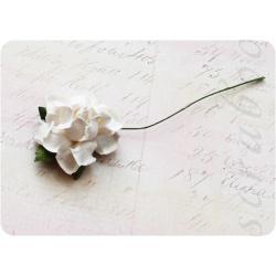 Белая роза, 35 мм, 1шт