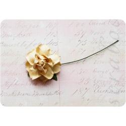 Бежевая роза, 35 мм, 1шт