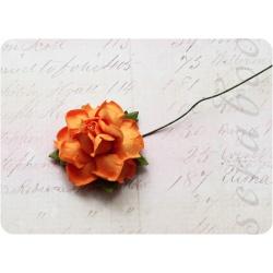Оранжевая роза, 35 мм, 1шт