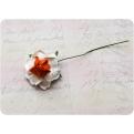Оранжево-белая роза, 35 мм, 1шт