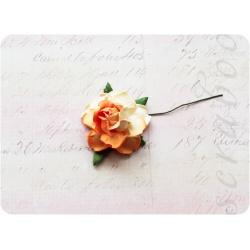 Оранжево-бежевая роза, 35 мм, 1шт