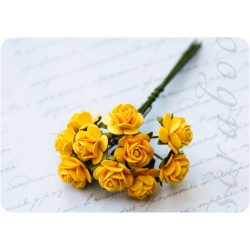 Букет желтых роз, 10 мм, 10 шт