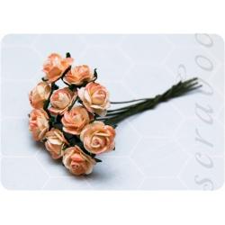 Бежево-персиковые розы, 10мм