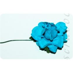 Ярко-голубая роза, 35 мм, 1шт