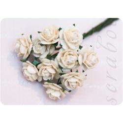 Кремовые розы, 10мм, 10шт