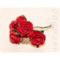 Красные розы, 20 мм, 5 шт