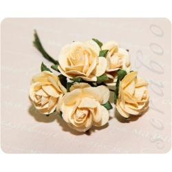Светло-желтые розы, 20 мм, 5шт