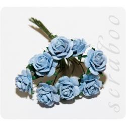 Голубые розы, 10мм, 10шт
