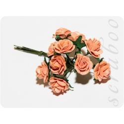 Оранжевые розы, 10мм, 10шт