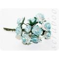 Букет бело-голубых роз, 10мм, 10шт