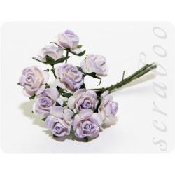 Букет сиренево-белых роз, 10мм, 10шт