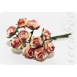 Букет бежево-коричневые роз, 10 мм, 10 шт