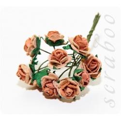 Коричневые розы, 10мм, 10шт