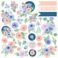 """Лист с картинками для вырезания """"Flower mood"""", 30х30см"""
