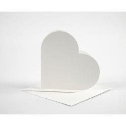 Открытки-сердечки с конвертами, 10 шт