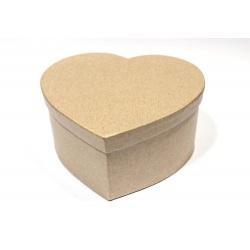 Заготовка коробочки из папье-маше Сердце
