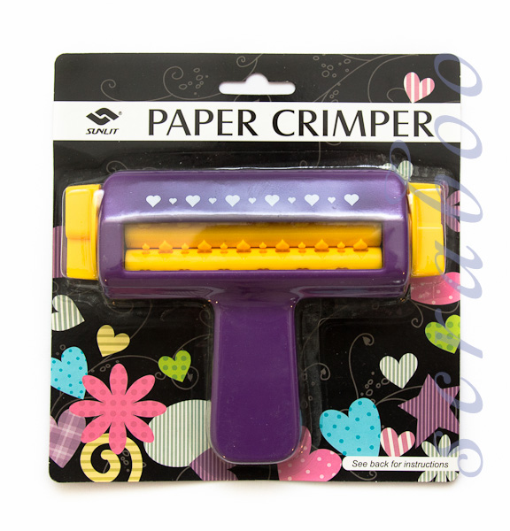 paper crimper It is perfect for creating a unique wave or corrugated effect in all kinds of paper crafting projects this package contains one crimper for paper and more up to 6-1/2in wide imported.